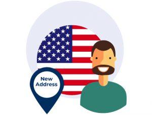 Amerikanische Adresse in den USA