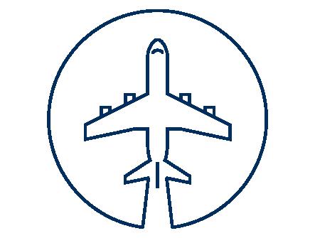 Icona spedizione aerea