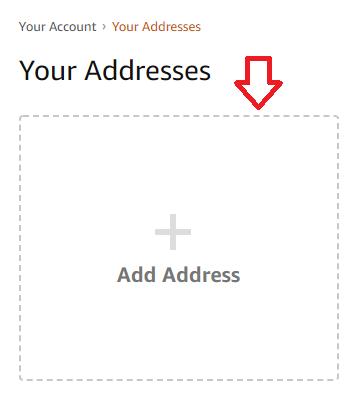 Hinzufügen einer amerikanischen Adresse in amazon.com
